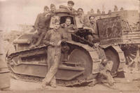 Photo de l'équipage d'un char Renault FT17 vers 1918